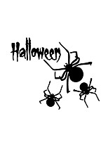 Wall Stickers Wall Decals Style Halloween Spider PVC Wall Stickers