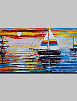 Hand-Painted Sailing Oil Painting On Canvas Modern Abstract Wall Art Picture For Home Decoration Ready To Hang