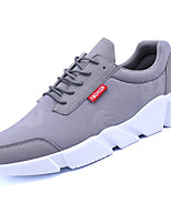 Men's Athletic Shoes Comfort PU Spring Fall Outdoor Comfort Lace-up Flat Heel Black Gray Ruby Flat