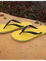 Masculino Chinelos e flip-flops Conforto Couro Ecológico Primavera Casual Conforto Branco Amarelo Verde Azul Rasteiro