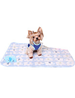 Cat Dog Bed Pet Blankets Animal Keep Warm Foldable Soft Yellow Blue Blushing Pink