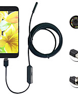 2in1 Android&Pc 2.0 méga pixels 8.0mm lentille hd endoscope 6 conduit ip67 imperméable à l'eau insonorisation endoscope 1m long fil