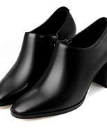 Для женщин Ботинки Удобная обувь Полиуретан Весна Повседневный Черный На плоской подошве