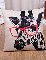 1 Pcs Classic Creative Giraffe Pattern Pillow Cover Cotton/Linen Pillow Case Home Decor