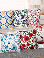 6 Design Emulation Silk Rose Flowers Pillow Case Creative Pillow Cover 1 Pcs