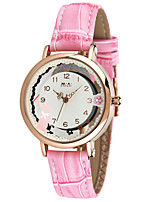 Women's Fashion Watch Quartz Digital Water Resistant / Water Proof PU Band White Pink