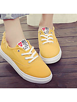 Women's Sneakers Comfort Canvas Spring Casual Yellow Black White Flat