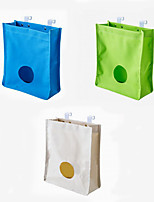 Creative Oxford Behind The Cabinet Door Folding Solid Hook Storage Bag 1PC