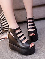 Women's Heels Basic Pump Comfort PU Spring Summer Casual Basic Pump Comfort Black White 4in-4 3/4in