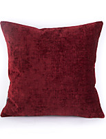 Chenille Pillow Case-Red