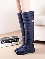 Women's Boots Comfort Suede Winter Casual Comfort Blue Black Flat