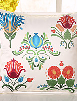 1 Pcs Bohemia Style Emulation Silk Pillow Cover Colorful Flowers Pillow Case