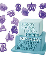40Pcs/Set Letter Numer Print Mold Decorating Tool For Cake For Cookie Plastics DIY Birthday