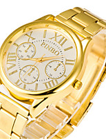 Men's Women's Fashion Watch Quartz Alloy Band Black Gold