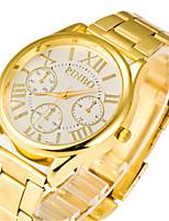 Мужской Женские Модные часы Кварцевый сплав Группа Черный Золотистый