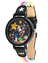 Women's Fashion Watch Quartz Leather Band Black Yellow