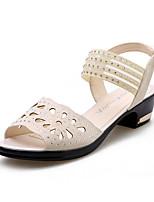 ללא התאמה אישית נשים מודרני עור נעלי ספורט חיצוני אבנים נוצצות נצנצים נוצצים עקב נמוך לבן שחור 5 - 7 ס