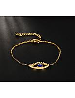 Femme Chaînes & Bracelets Vintage Style Punk Acier au titane Forme Ronde Bijoux Pour Mariage Halloween Fête/Soirée Scène
