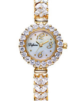 Women's Fashion Watch Quartz Alloy Band Sparkle Charm Silver Gold