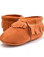 Newborn Baby Kids' Loafers & Slip-Ons First Walkers Microfibre Fall Winter Party & Evening Dress Casual Tassel Flat HeelRoyal Blue Khaki Dark Purple