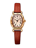 Women's Fashion Watch Quartz Water Resistant / Water Proof Leather Band Black White Red Brown