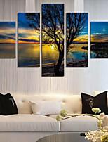 Art Print Landscape Classic,Five Panels Horizontal Print Wall Decor For Home Decoration