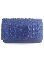 Women Shining Clutches and Evening Bags with Bowknot Gold/Silver/Black/Blue/Champagne