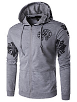 Men's Sport Casual/Daily Casual/Daily Sport Hoodie printing Hooded Micro-elastic Polyester Long Sleeve Spring, Fall, Winter, Summer