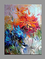 Hand-Painted Abstract Vertical Panoramic,Modern/Contemporary One Panel Canvas Oil Painting For Home Decoration