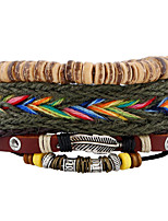 New Color Woven Coconut Shell Leather Bracelet