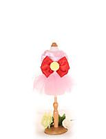 Платья Одежда для собак Милые Мода На каждый день Принцесса Темно-синий Лиловый Розовый