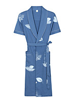 Bath TowelPattern High Quality 100% Cotton Towel Men's Bathrobes