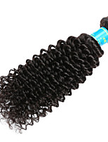 Натуральные волосы Малазийские волосы Человека ткет Волосы Kinky Curly Наращивание волос 1 шт. Черный