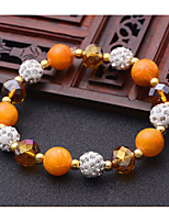 Women's Strand Bracelet Friendship Movie Jewelry Fashion Luxury Crystal Agate Circle Jewelry ForWedding Party Special Occasion