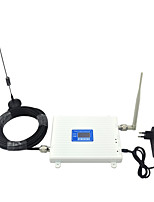 LCD Display DCS 1800mhz GSM 900mhz Cell Phone Signal Booster 2G 4G Signal Amplifier with Whip Antenna / Sucker Antenna / Dual Band / White