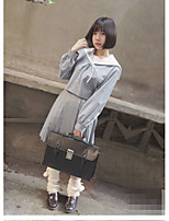 Women's Casual/Daily Cute Spring Fall Shirt Dress Suits,Solid Off Shoulder Long Sleeve