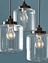 Pendant Light ,  Modern/Comtemporary Other Feature for Eye Protection Glass Living Room Indoors 3 Bulbs
