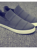 Men's Sneakers Comfort Tulle Spring Casual Black Gray Blue Flat