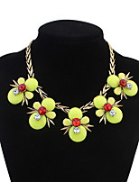 Pendant Necklace Euramerican Exaggerated Flower Bead Resin Choker Necklaces Necklace Women's Party Daily Movie Jewelry