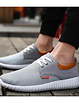 Men's Sneakers Comfort Tulle Spring Casual Gray Blue Khaki Flat