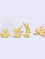 3D Wall Stickers Wall Decals Style Lovely Naughty Rabbit Mirror Wall Stickers