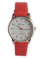 Women's Fashion Watch Quartz / Genuine Leather Band Casual Red Navy