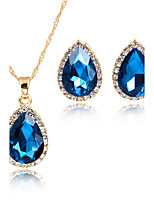 Jewelry Set Bridal Jewelry Sets Pendants Rhinestone AAA Cubic Zirconia Cute Style Euramerican Fashion Rhinestone Gold Plated Zinc Alloy
