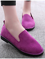 Women's Loafers & Slip-Ons Comfort Suede Spring Casual Comfort Purple Gray Black Flat