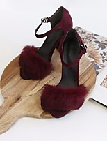 Women's Heels Basic Pump Comfort  Animal Skin Spring Summer Casual Basic Pump Comfort Burgundy Black 2in-2 3/4in