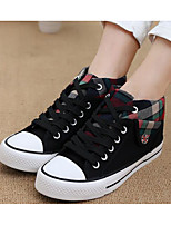 Women's Sneakers Comfort Canvas Spring Casual Comfort Burgundy Blue Black Flat