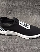Men's Sneakers Comfort Real Leather Tulle Spring Casual Comfort Black Flat