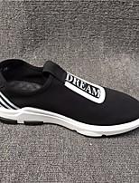 Da uomo Sneakers Comoda Pelle Tulle Primavera Casual Comoda Nero Piatto
