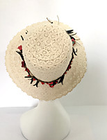 Women's Cotton Linen Sun Hat,Casual Solid Spring