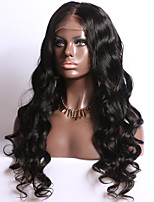 Full Lace Human Hair Wigs Body Wave Natural Color 130% Density   Lace Wigs With Baby Hair
